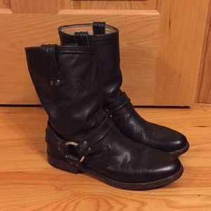 Frye motorcycle boots w/harness